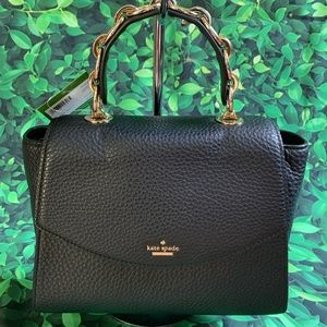 Murray street Kim Kate spade leather black satchel